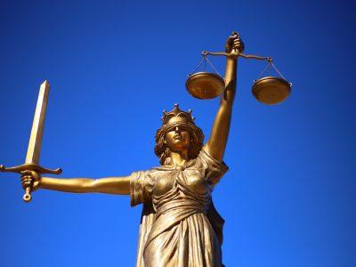 justice statue london